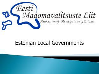 Estonian Local Governments