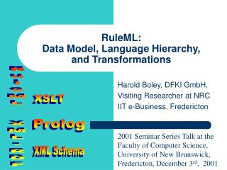 RuleML: Data Model, Language Hierarchy, and Transformations