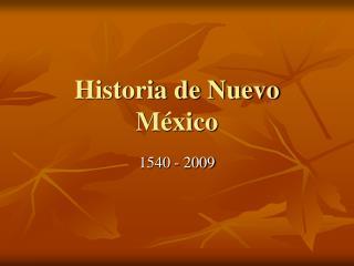 Historia de Nuevo México