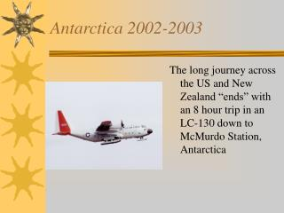 Antarctica 2002-2003