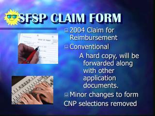 SFSP CLAIM FORM