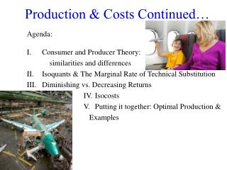 Production & Costs Continued…