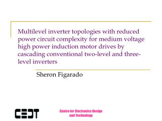 Multilevel inverter topologies with reduced power circuit complexity for medium voltage high power induction motor drive