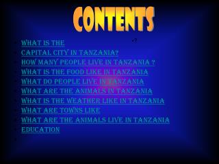 What is the  capital city in Tanzania? How many people live in Tanzania ?