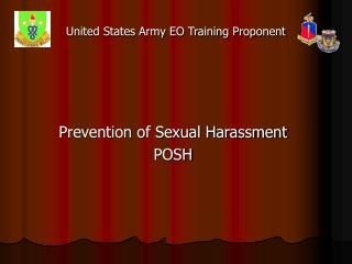 United States Army EO Training Proponent