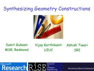 Synthesizing Geometry Constructions