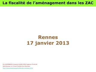Rennes    17 janvier 2013