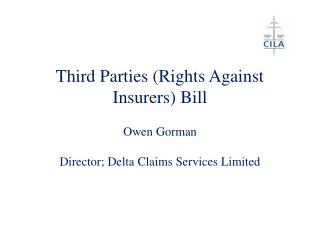 Third Parties (Rights Against Insurers) Bill