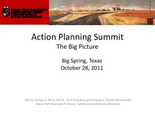Action Planning  Summit The Big Picture