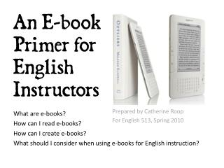 An E-book Primer for English Instructors