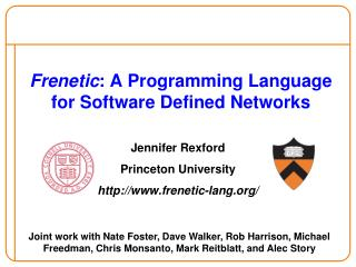 Frenetic: A Programming Language for Software Defined Networks
