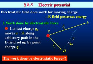 §8-5      Electric potential