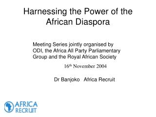 Harnessing the Power of the African Diaspora