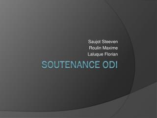 Soutenance ODI