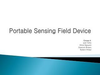 Portable Sensing Field Device