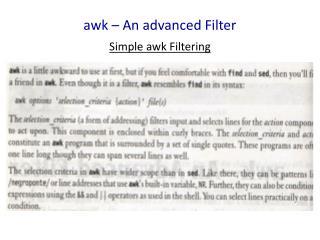 a wk  – An advanced Filter