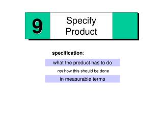 Specify Product