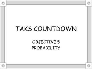 TAKS COUNTDOWN
