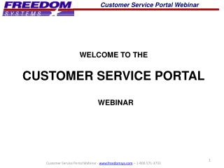 Customer Service Portal Webinar