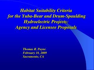 Thomas R. Payne  February 18, 2009 Sacramento, CA