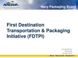 Navy Packaging Board