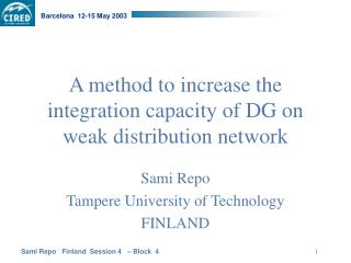 A method to increase the integration capacity of DG on weak distribution network