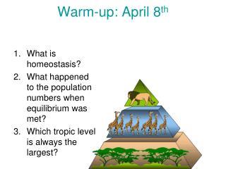 Warm-up: April 8 th