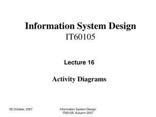 Information System Design IT60105