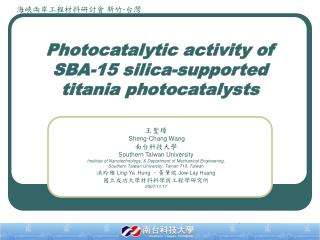 Photocatalytic activity of SBA-15 silica-supported titania photocatalysts