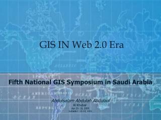 GIS IN Web 2.0 Era