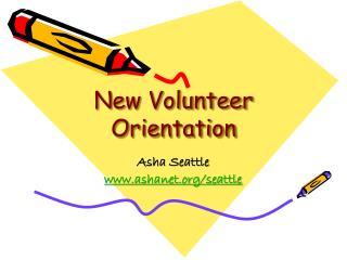 New Volunteer Orientation