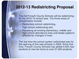 2012-13 Redistricting Proposal
