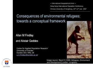 Consequences of environmental refugees: towards a conceptual framework