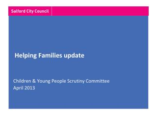 Helping Families update