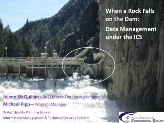When a Rock Falls on the Dam: Data Management under  the ICS