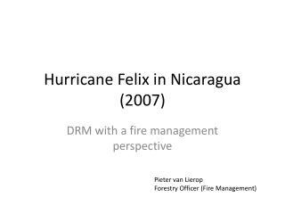 Hurricane Felix in Nicaragua (2007)