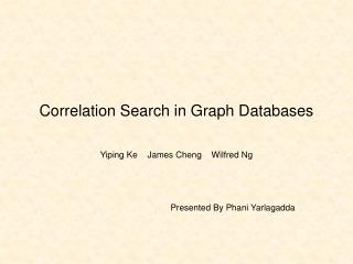 Correlation Search in Graph Databases