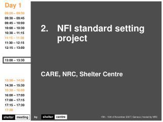 CARE, NRC, Shelter Centre
