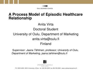 A Process Model of Episodic Healthcare Relationship