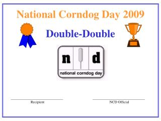National Corndog Day 2009 Double-Double