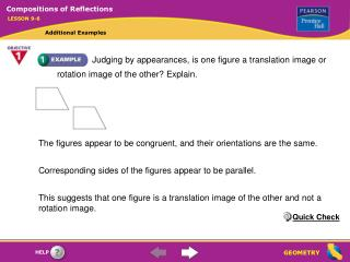Judging by appearances, is one figure a translation image or rotation image of the other Explain.