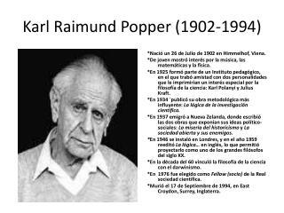 Karl Raimund Popper (1902-1994)