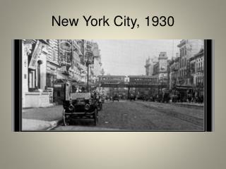 New York City, 1930