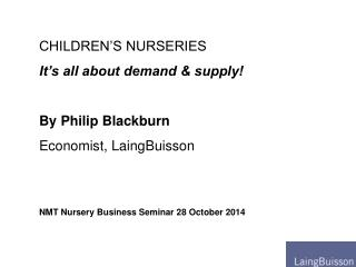 NMT Nursery Business Seminar 28 October 2014