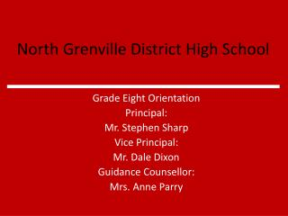 North Grenville District High School