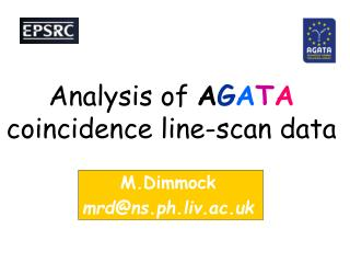 Analysis of  A G A T A  coincidence line-scan data