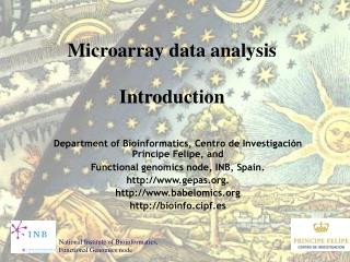 Microarray data analysis Introduction