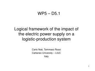 WP5 – D5.1