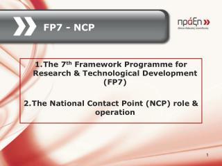 FP7 - NCP