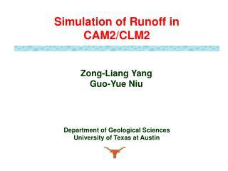 Zong-Liang Yang Guo-Yue Niu